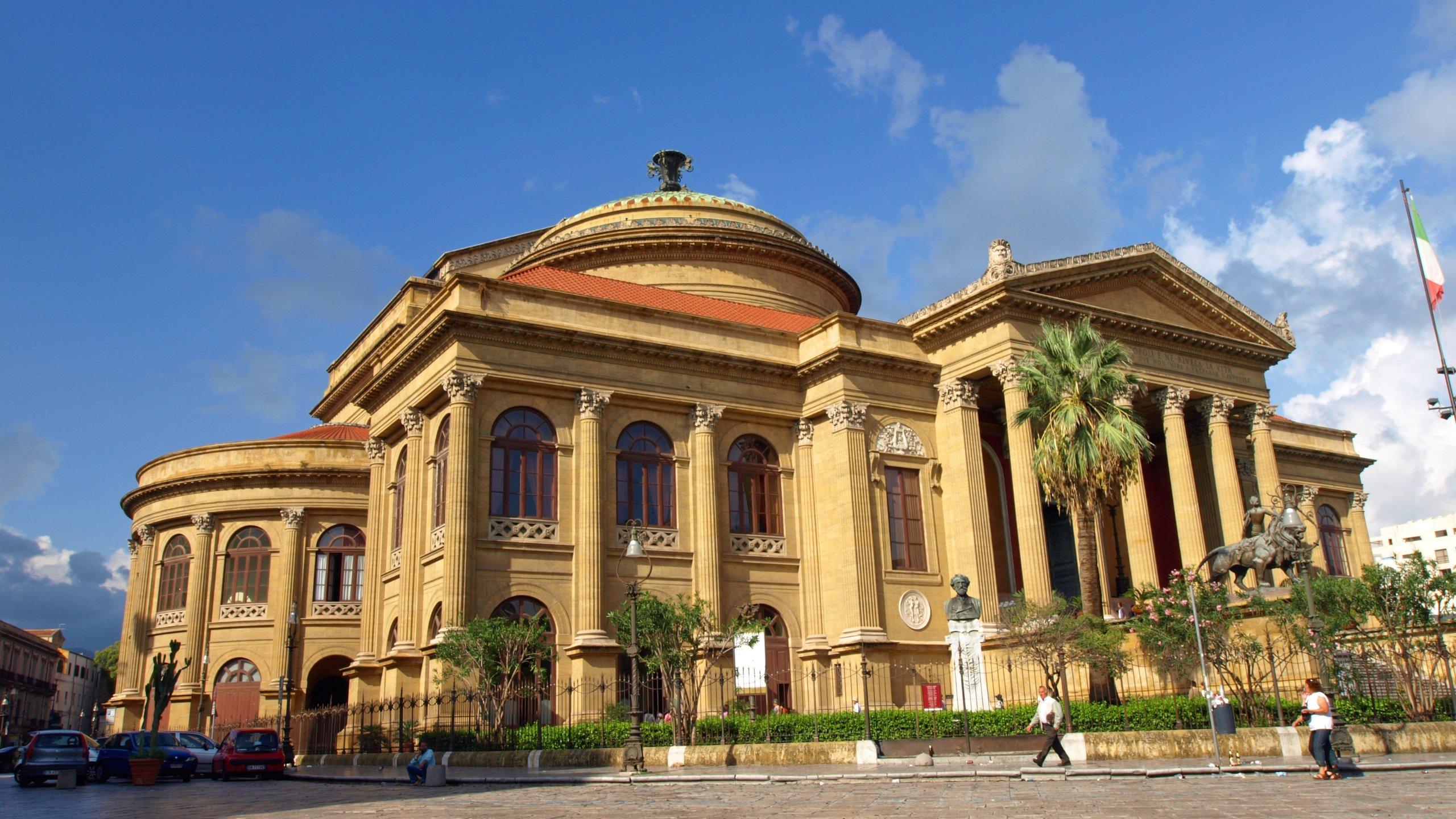 Enjoy a show at Teatro Massimo, a theater with a story to tell in Palermo. While in this culturally rich area, find time to visit its shops.