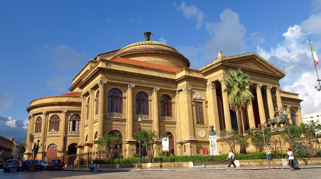 Palermo featuring heritage architecture and street scenes
