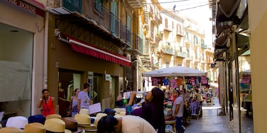 Via Maqueda showing markets and street scenes as well as a large group of people
