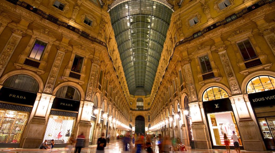 Galleria Vittorio Emanuele II featuring interior views, heritage architecture and shopping