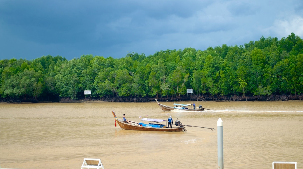 Krabi Town which includes boating and a river or creek