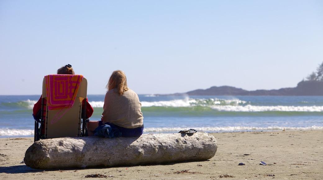 Chesterman Beach featuring a beach as well as a couple