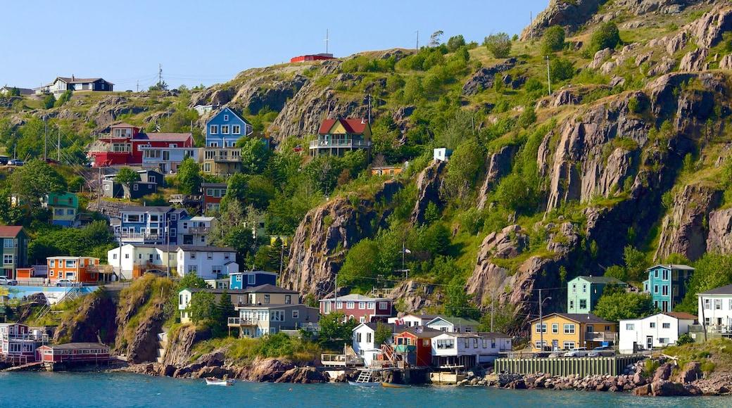 St. John\'s featuring rugged coastline, general coastal views and a coastal town