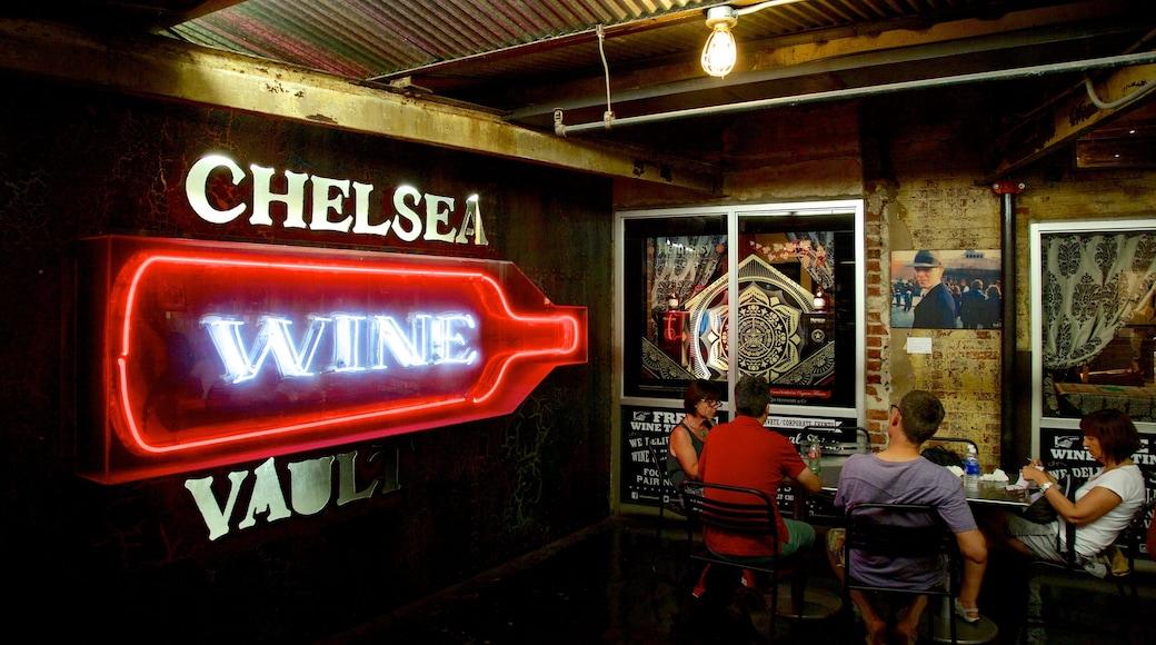 Chelsea marked som viser bar og skilt