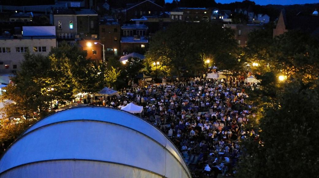 Danbury caracterizando música, um festival e cenas noturnas