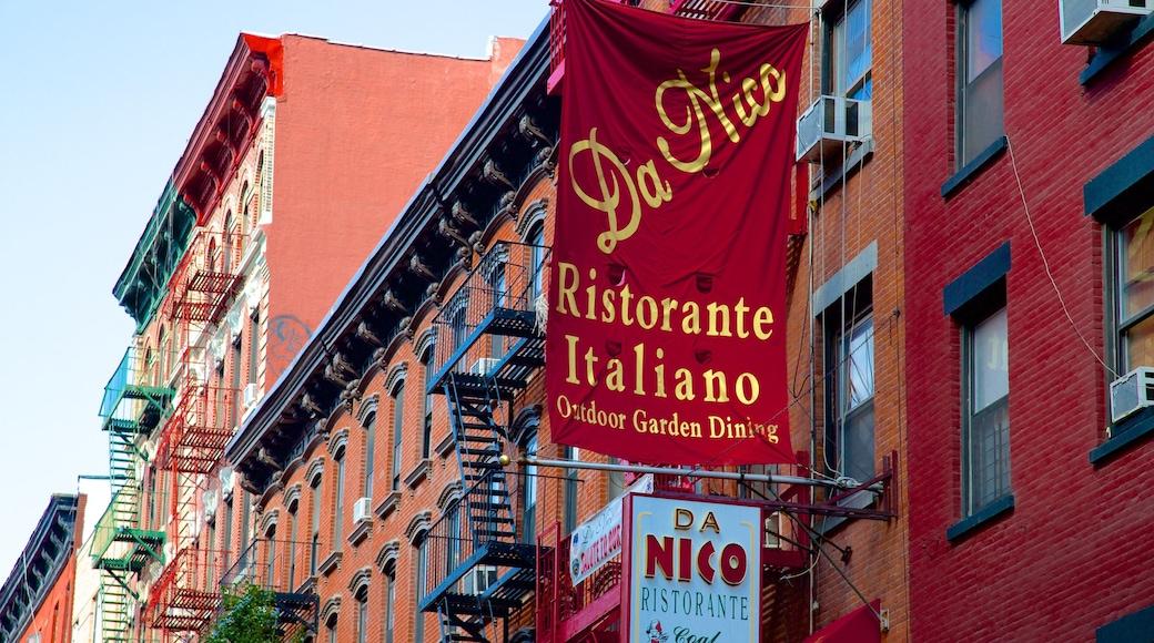 Little Italy mostrando città e segnaletica