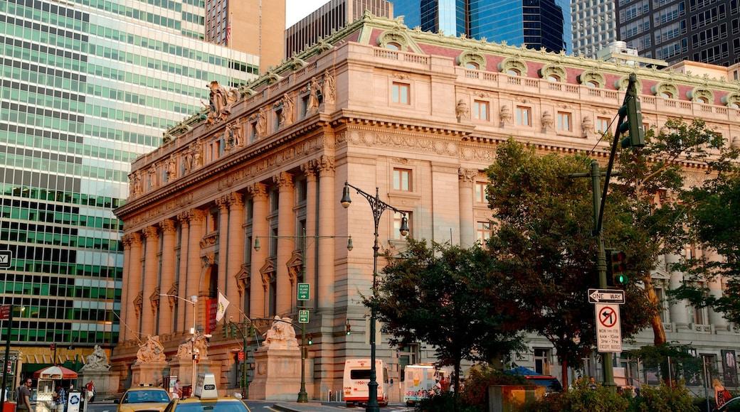 Wall Street - Quartier financier montrant ville