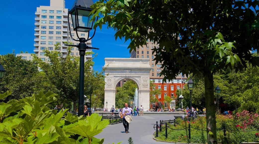 Washington Square Park featuring a garden