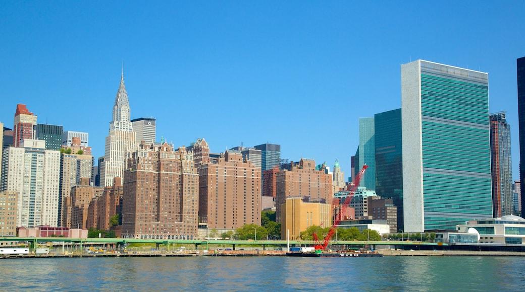 Sede de la Organización de las Naciones Unidas que incluye una ciudad