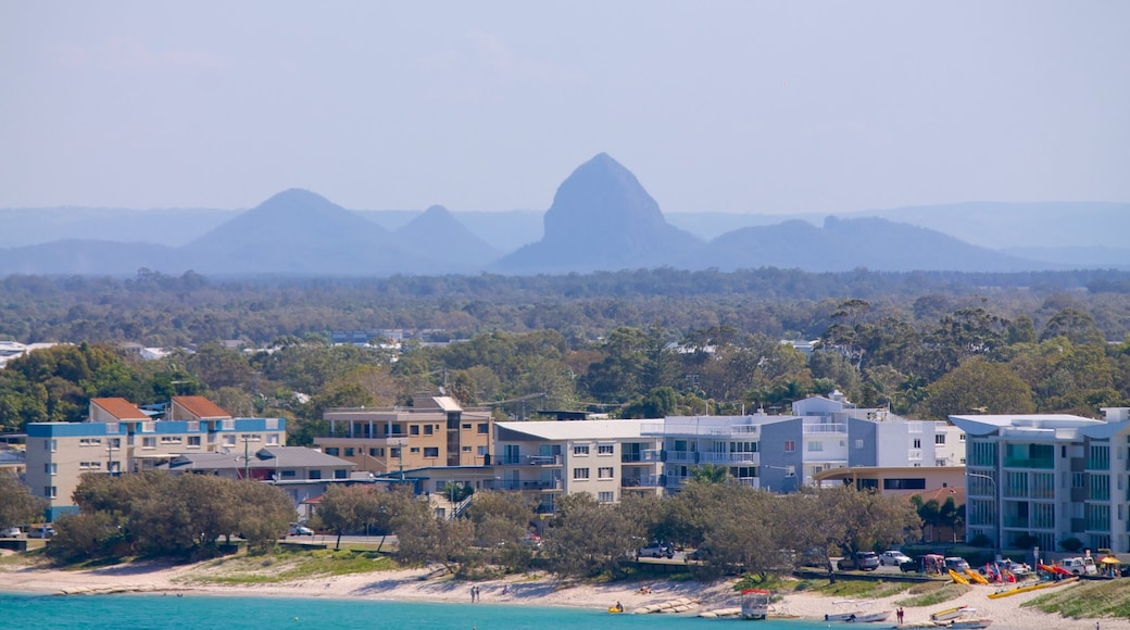 Glasshouse Mountains National Park showing landscape views and general coastal views