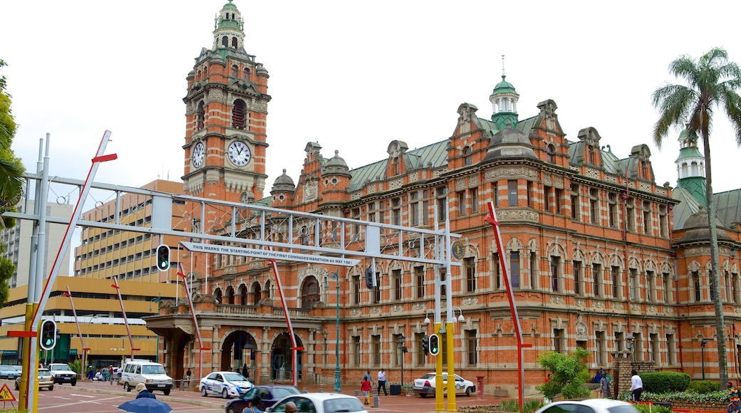 Pietermaritzburg which includes a city, heritage architecture and a church or cathedral