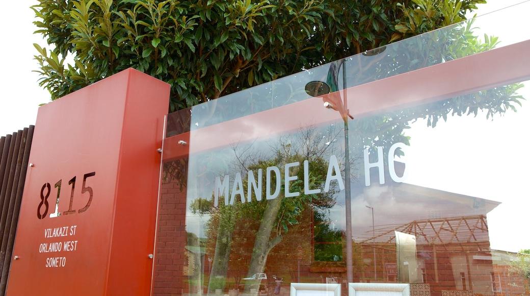 Musée Nelson Mandela montrant signalisation
