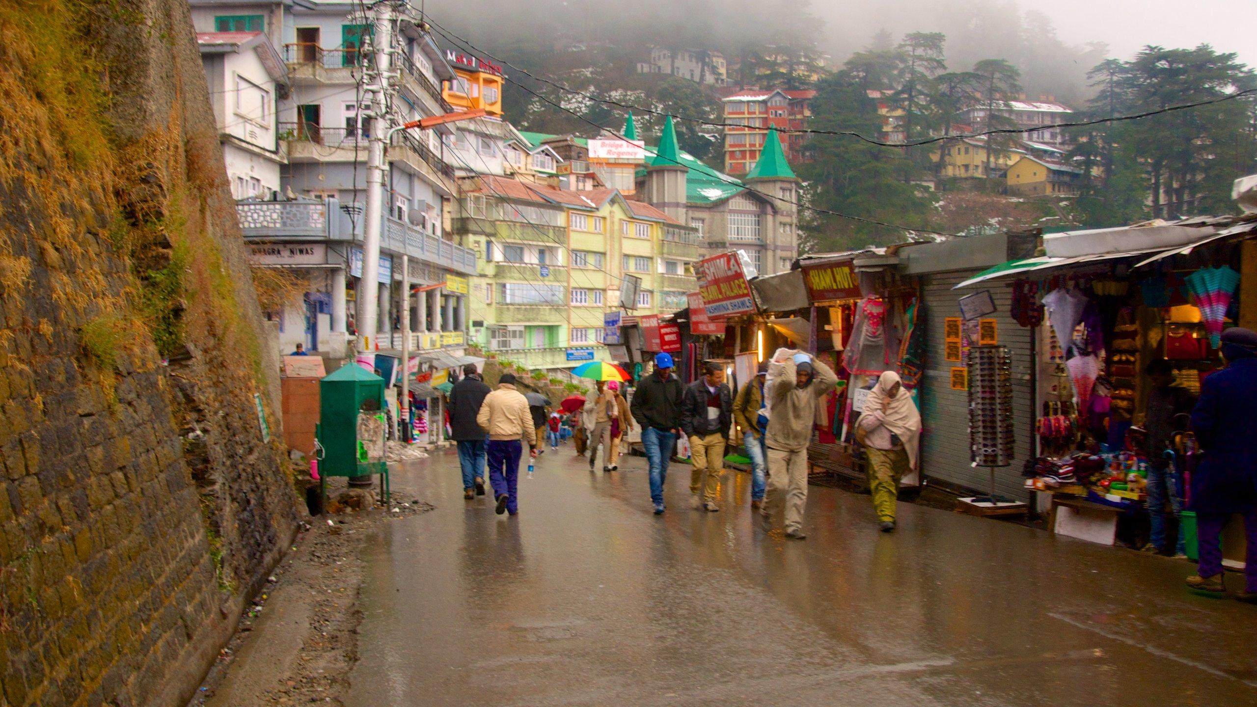 Shimla Mall (Einkaufszentrum), Shimla, Himachal Pradesh, Indien