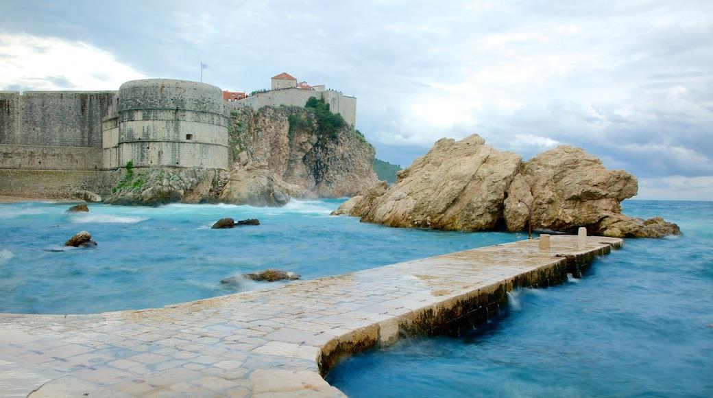 Dubrovnik - Southern Dalmatia showing rocky coastline