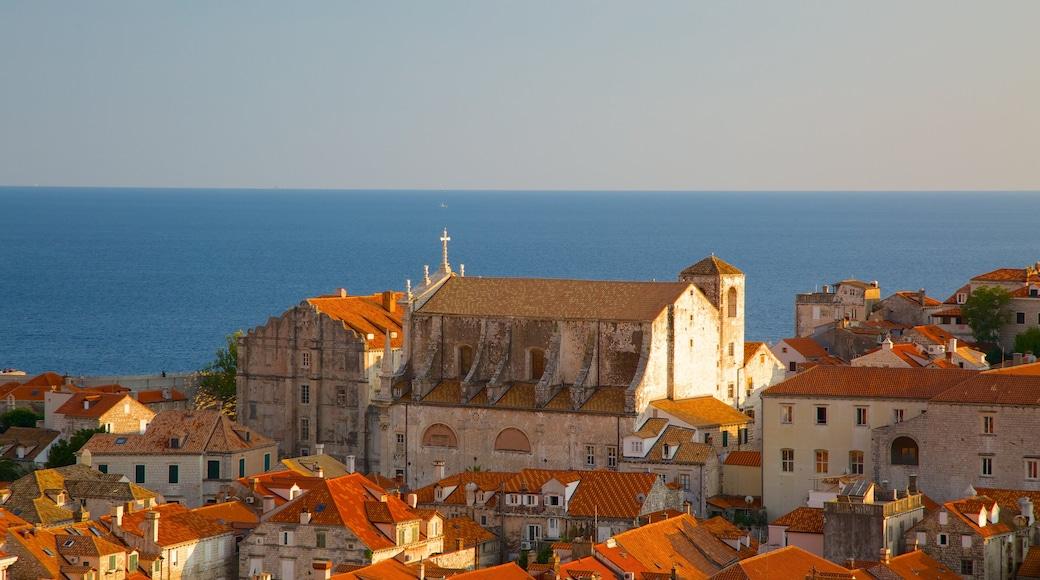 Church of St. Ignatius showing a coastal town