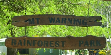 Mount Warning which includes signage