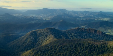 Mount Warning which includes landscape views, forests and mountains