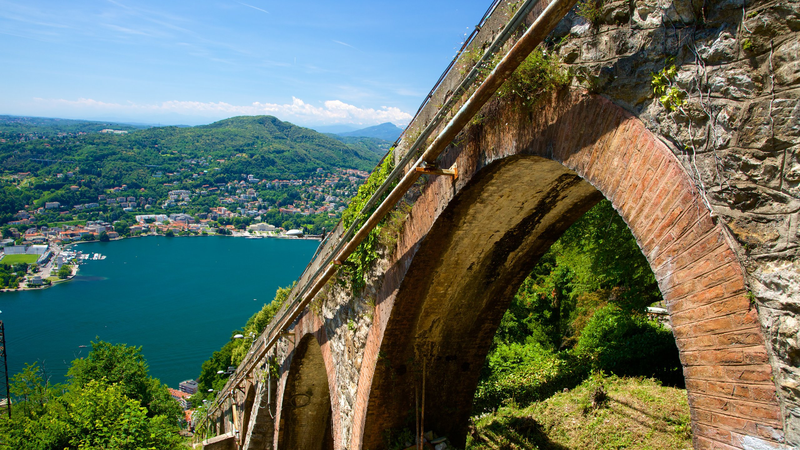 Travel to the hilltop village of Brunate on a funicular railway that is more than 100 years old. Once there, enjoy gorgeous views and follow trails through the hills.