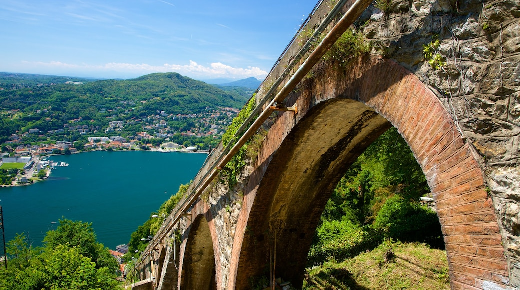 Como-Brunate Funicular which includes a bay or harbour and a bridge