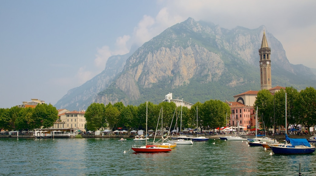 Lecco featuring boating, a bay or harbor and a coastal town