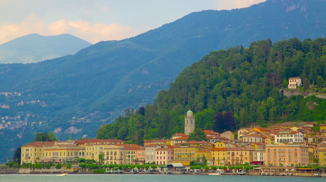 Bellagio featuring a coastal town, a small town or village and mountains