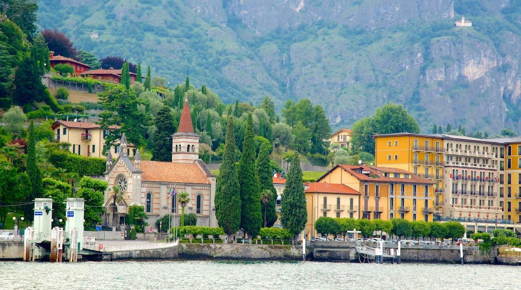 Cadenabbia showing a marina, general coastal views and a coastal town