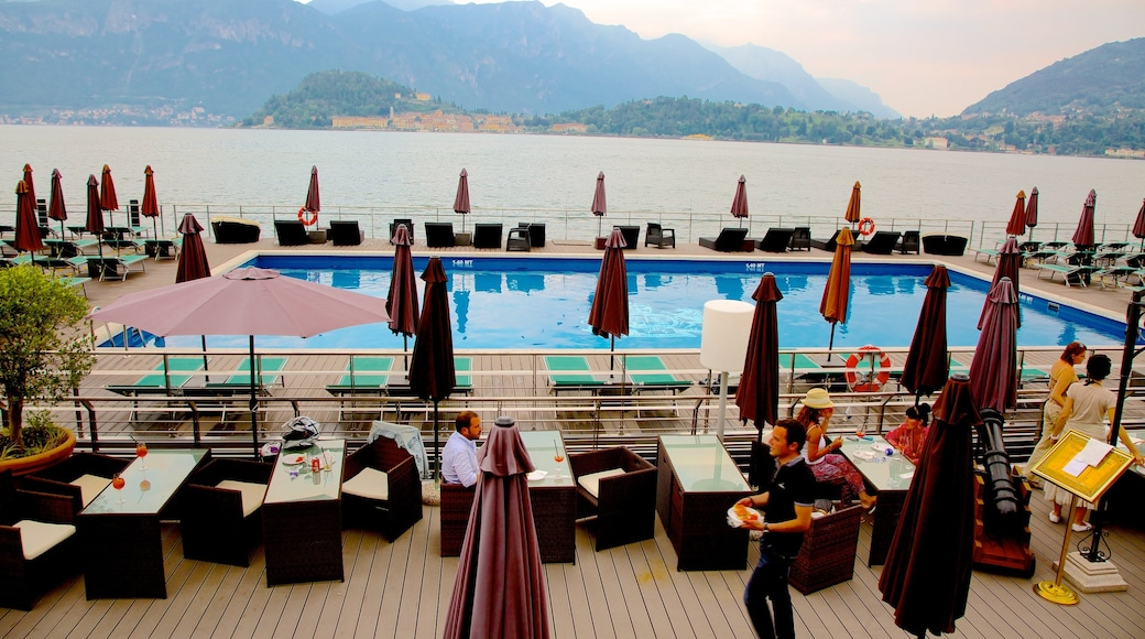 Cadenabbia showing a pool, dining out and a luxury hotel or resort