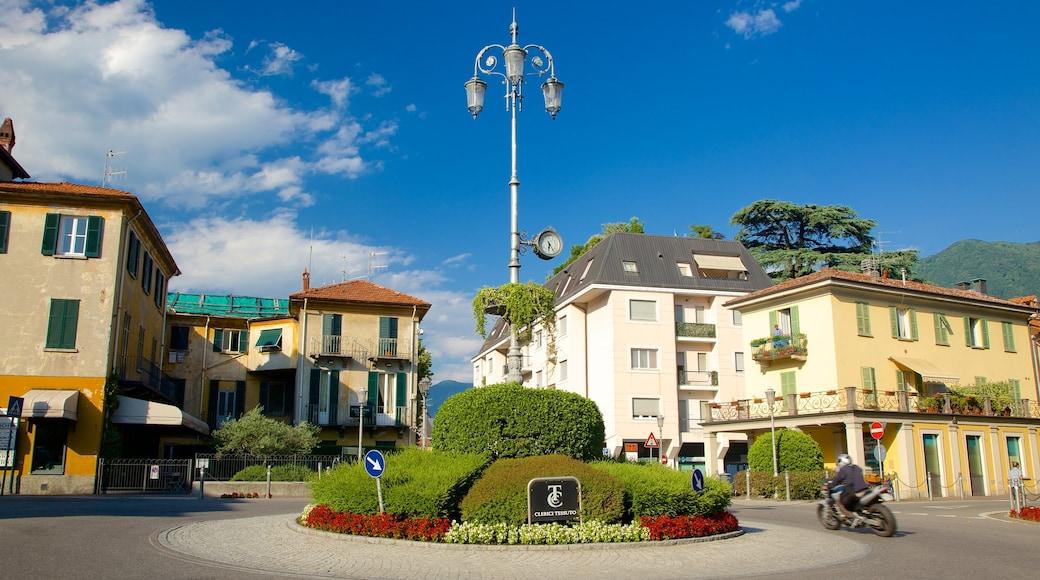 Cernobbio che include piazza, piccola città o villaggio e strade