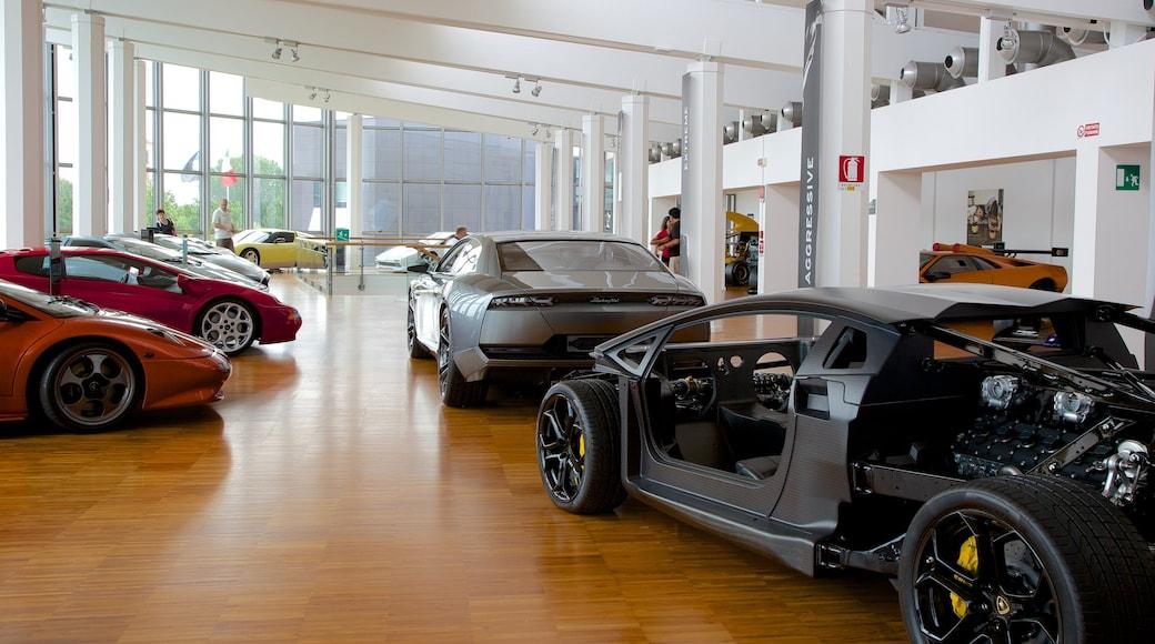 Lamborghini-Museum das einen Innenansichten
