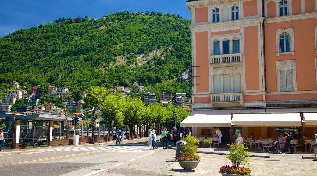 Piazza Cavour featuring a small town or village, heritage architecture and a square or plaza