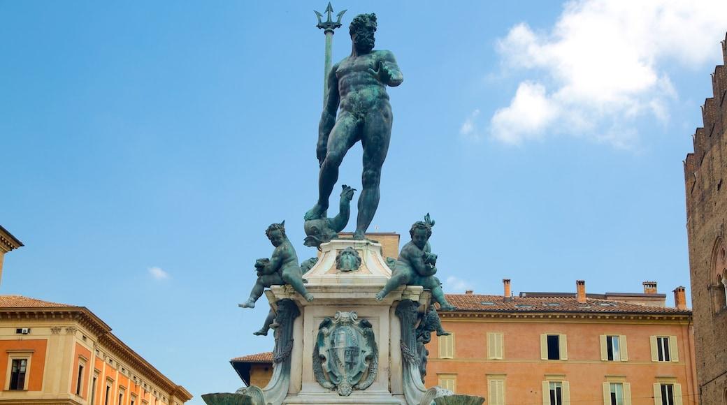Neptunbrunnen das einen Springbrunnen und Statue oder Skulptur