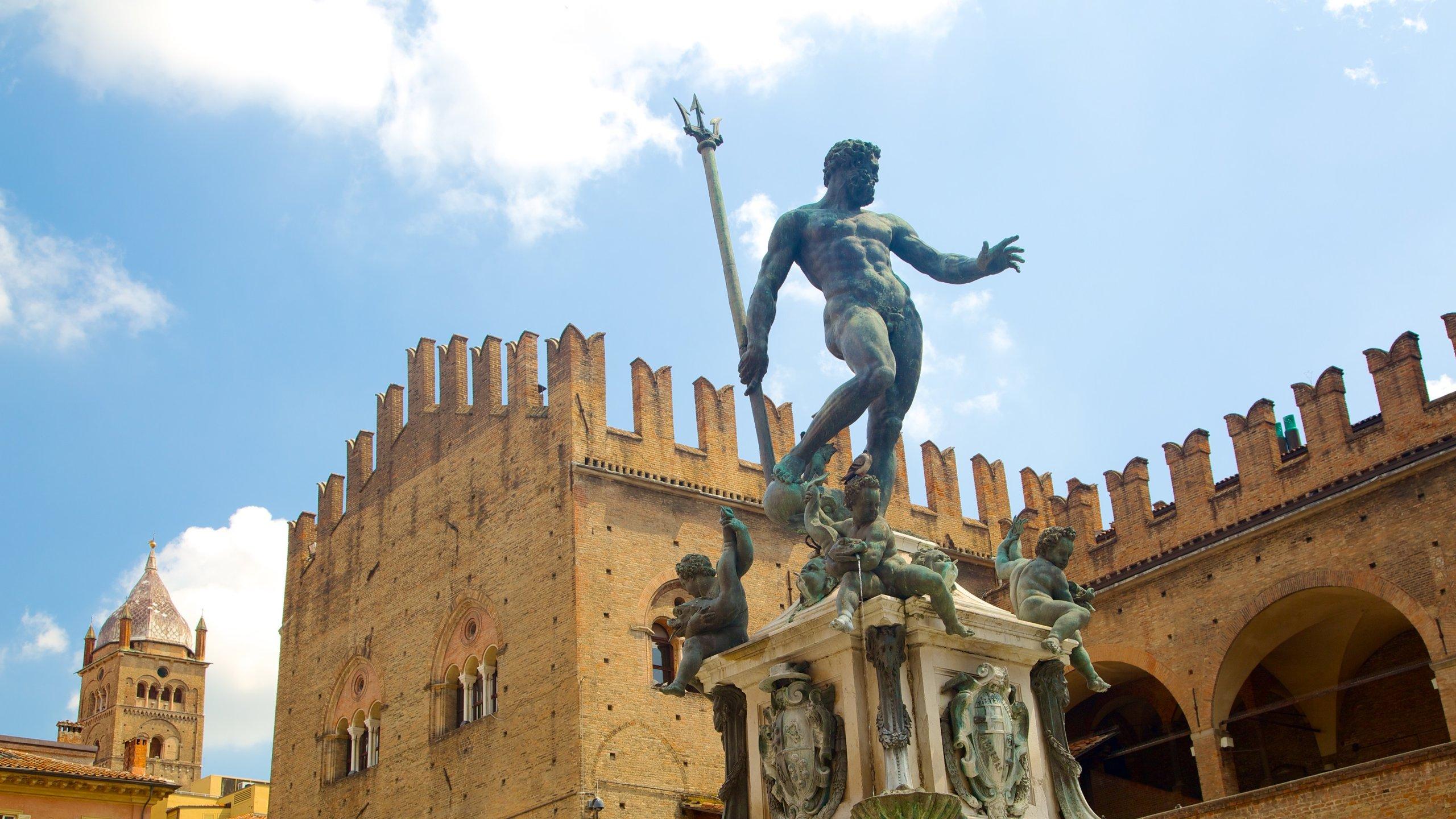 Dieses beeindruckende Kunstwerk ist eines der bekanntesten Wahrzeichen von Bologna und ein wichtiger öffentlicher Treffpunkt.