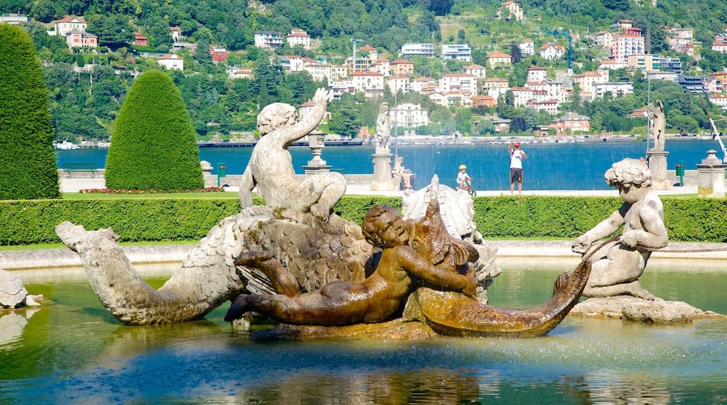 Villa Olmo featuring a garden, a fountain and a statue or sculpture