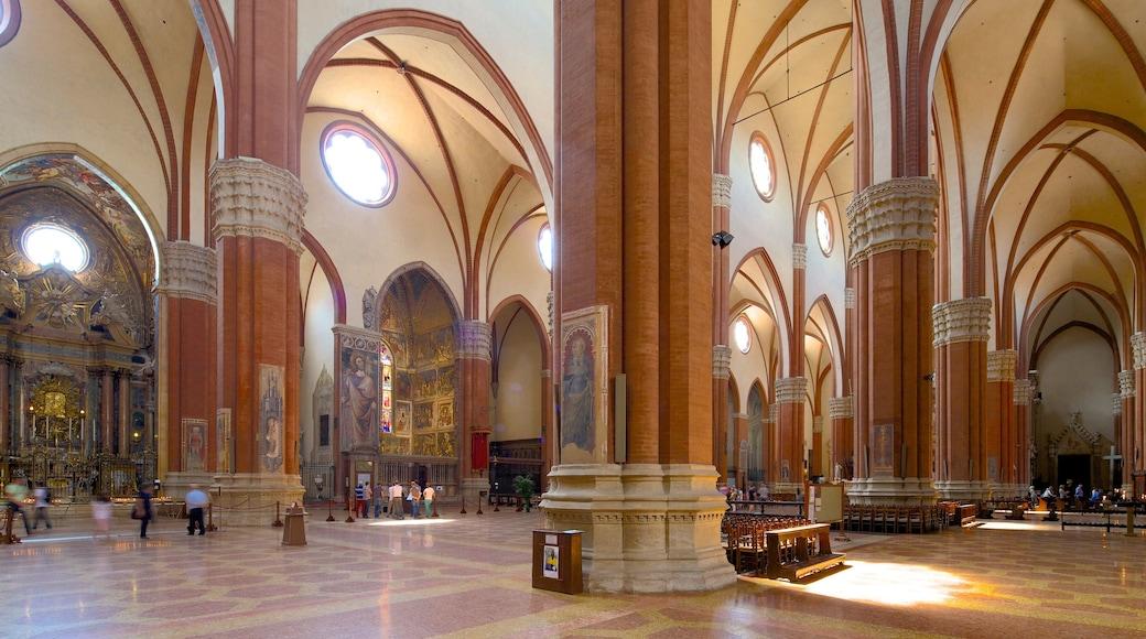 Basilique San Petronio mettant en vedette église ou cathédrale, aspects religieux et vues intérieures
