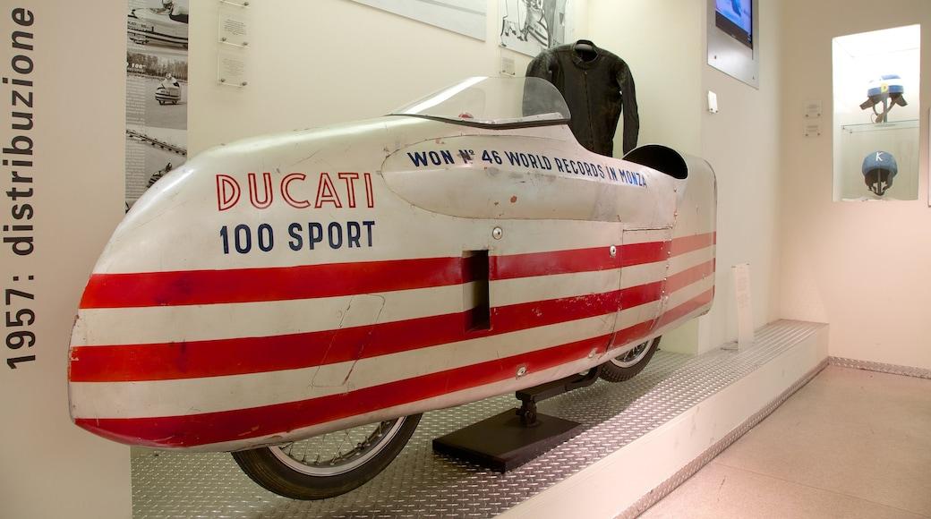 Musée Ducati montrant vues intérieures