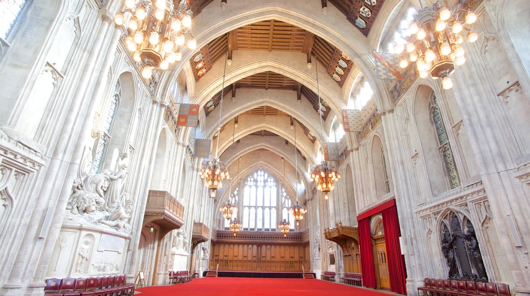 London Guildhall featuring heritage architecture, interior views and a church or cathedral