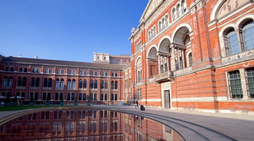 Victoria and Albert Museum joka esittää vanha arkkitehtuuri