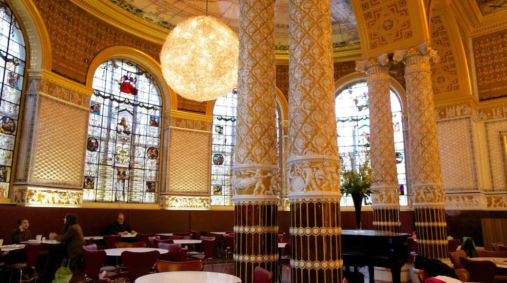 Victoria and Albert Museum johon kuuluu vanha arkkitehtuuri, perintökohteet ja sisäkuvat