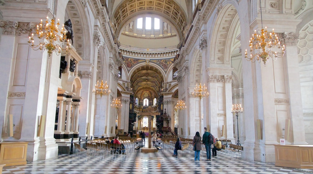 London Guildhall caracterizando elementos de patrimônio, vistas internas e arquitetura de patrimônio