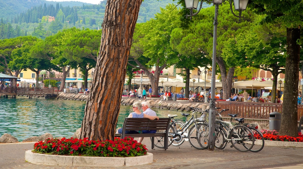 Garda mit einem See oder Wasserstelle sowie Paar