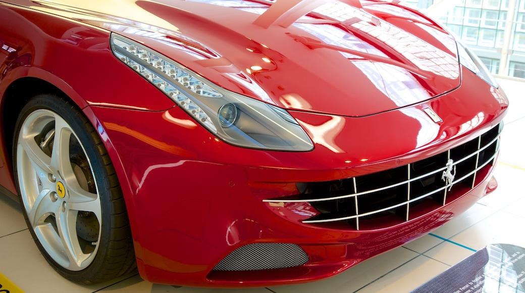 Ferrari-Museum mit einem Innenansichten