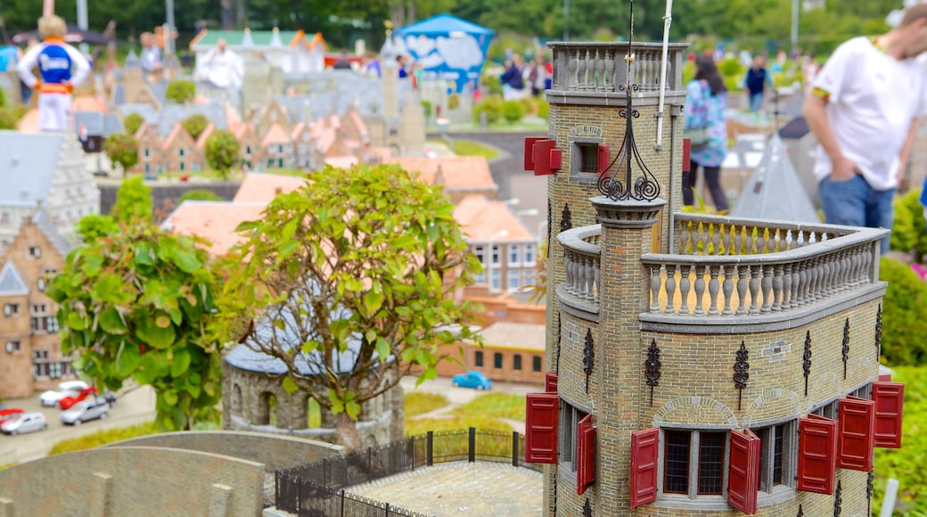 Madurodam featuring rides as well as a small group of people