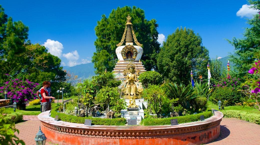 Kopan Monastery which includes a garden
