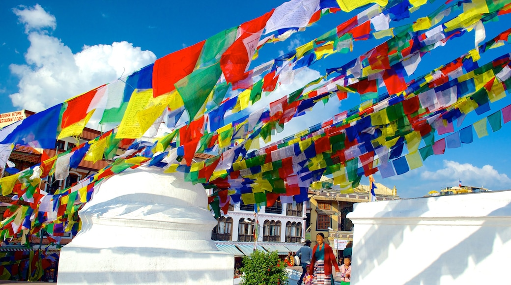 Boudhanath featuring a city