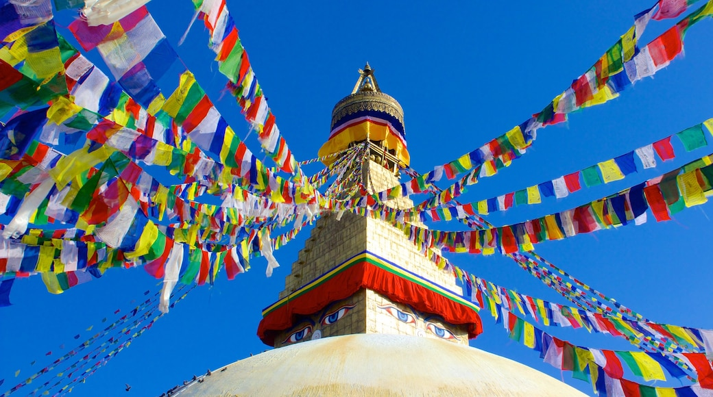 Boudhanath showing a temple or place of worship