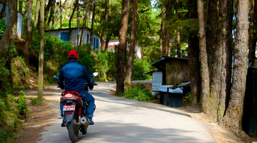 Nagarkot showing motorbike riding