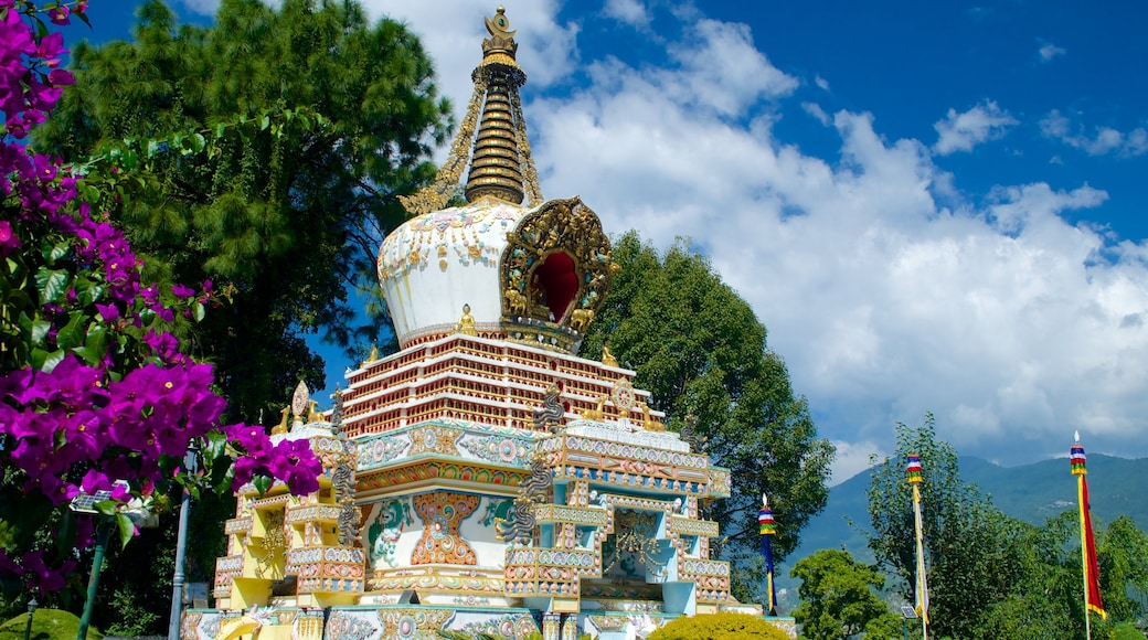 Kopan Monastery featuring religious elements, heritage elements and a statue or sculpture