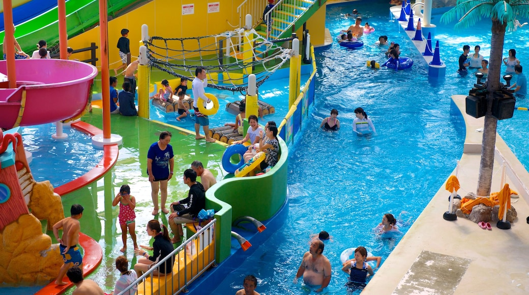 Spa World showing a pool, interior views and rides