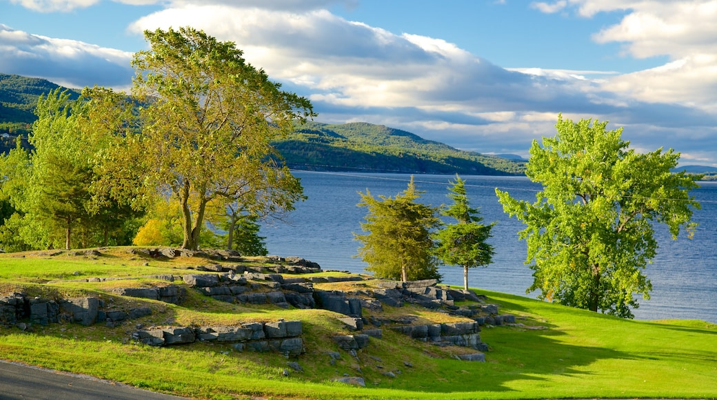 Crown Point State Historic Site which includes a lake or waterhole and tranquil scenes