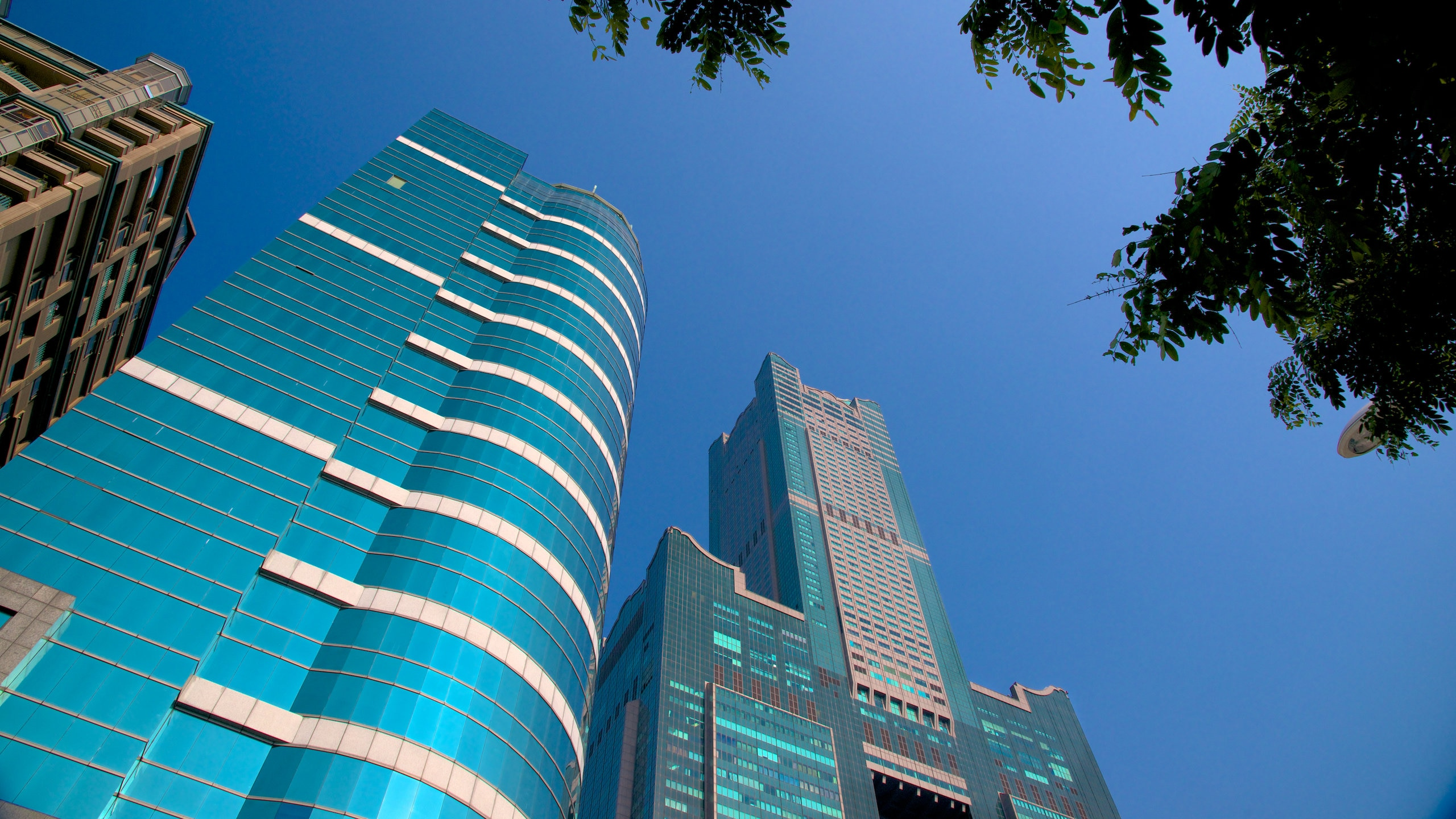Gaze at the panoramic views of Love River, Lotus Pond and the rest of the city in this skyscraper that is home to large department stores and a hotel.